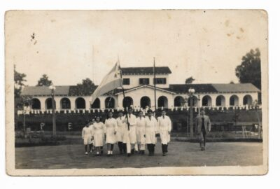 Acto en Plaza San Martin Año 1947 Fuente: Libro Historico Esc 615