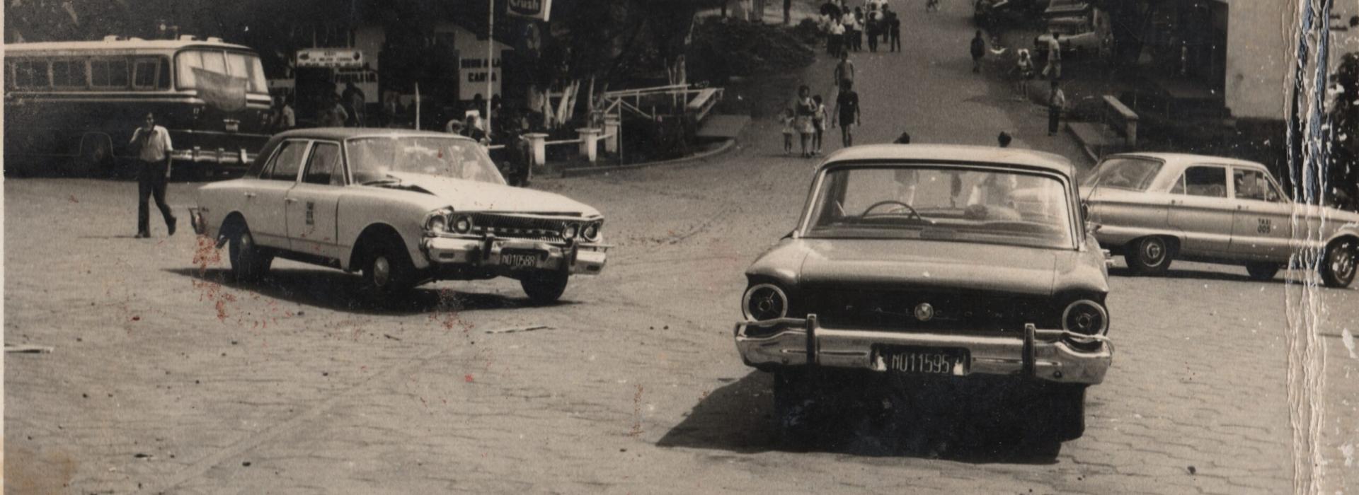 Año 1970, 7 bocas, Torino de Pedro Benítez(taxista). Se ve el comerdor de Arnulfo Arrieta.